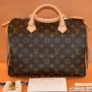 Authentic 2018 Louis Vuitton Speedy 30 Monogram